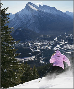 Skier at Mt Norquay