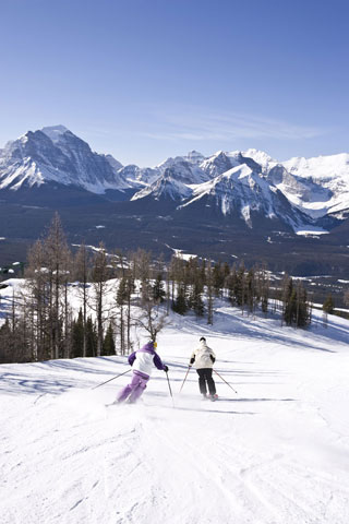 The Lake Louise Ski Area